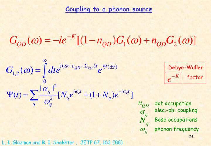 Coupling to a phonon source