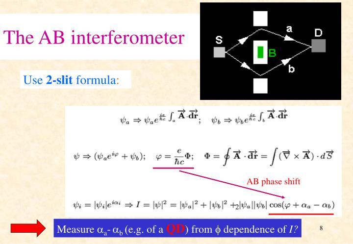The AB interferometer