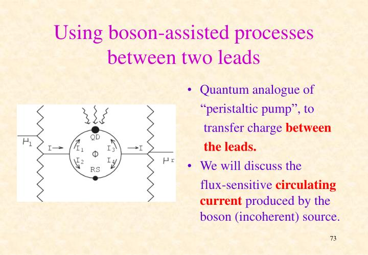 Using boson-assisted processes