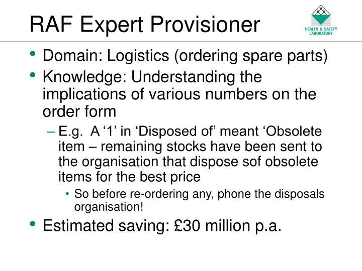 RAF Expert Provisioner