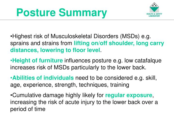 Posture Summary