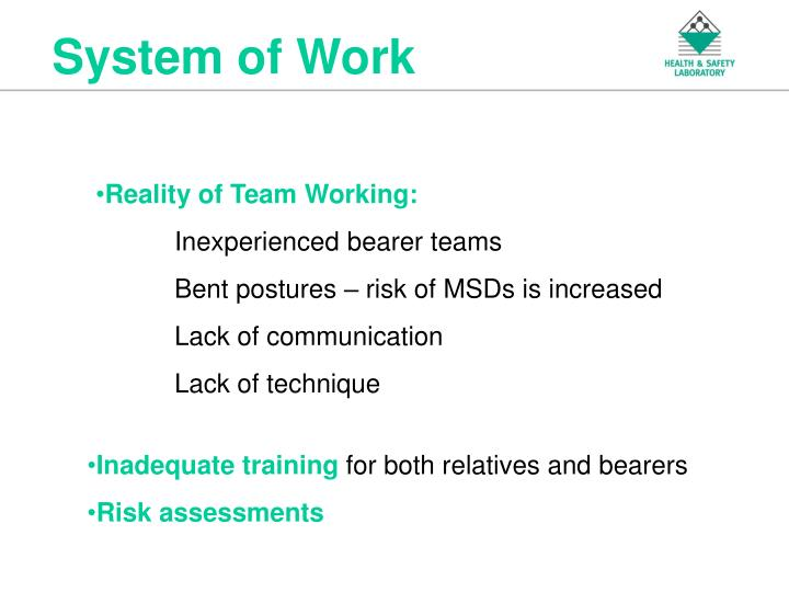 System of Work