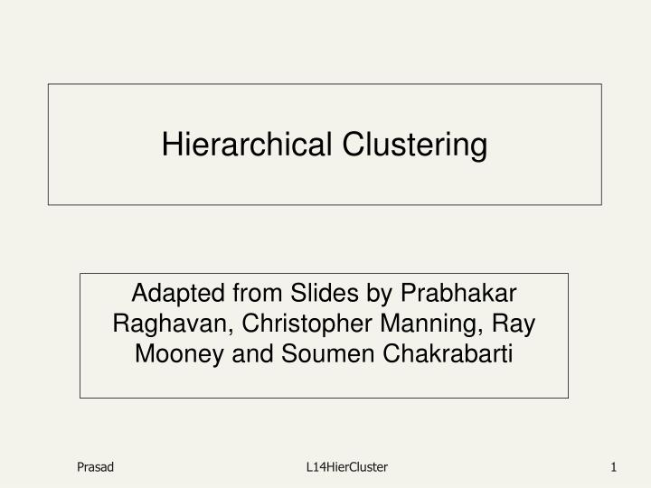 hierarchical clustering n.