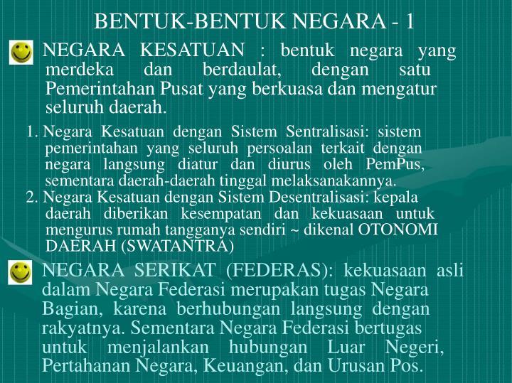 BENTUK-BENTUK NEGARA - 1