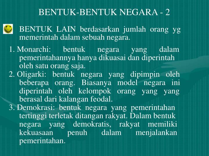 BENTUK-BENTUK NEGARA - 2