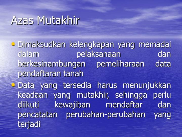 Azas Mutakhir