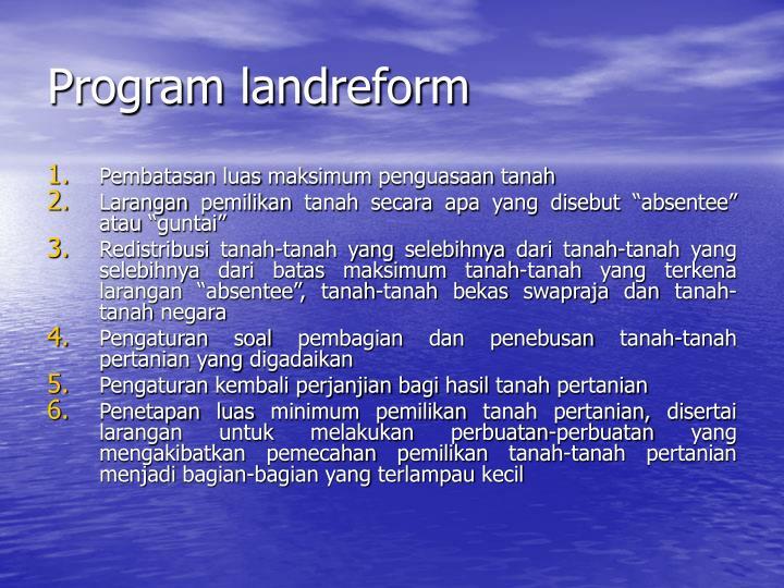 Program landreform