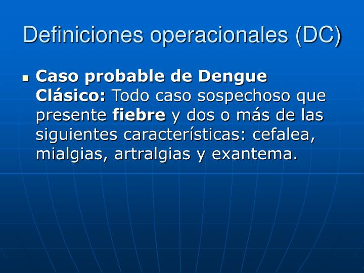 Definiciones operacionales (DC)