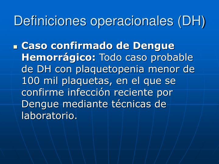 Definiciones operacionales (DH)