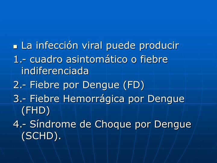 La infección viral puede producir