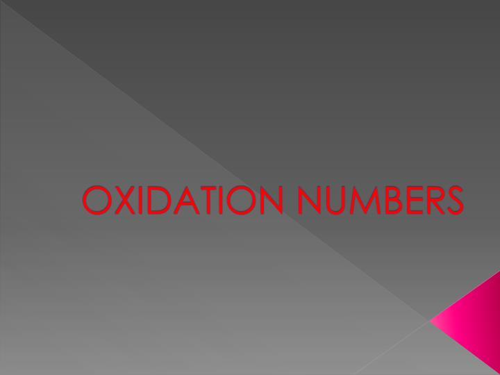 oxidation numbers n.