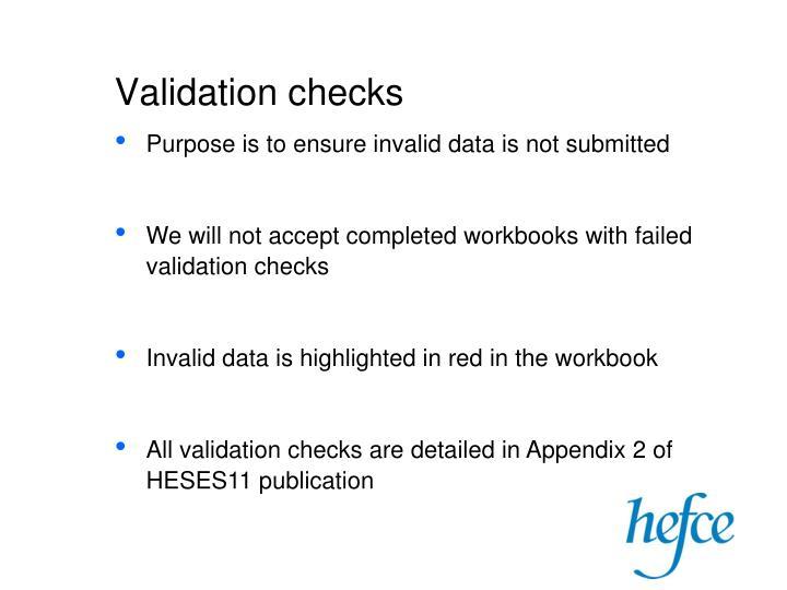 Validation checks