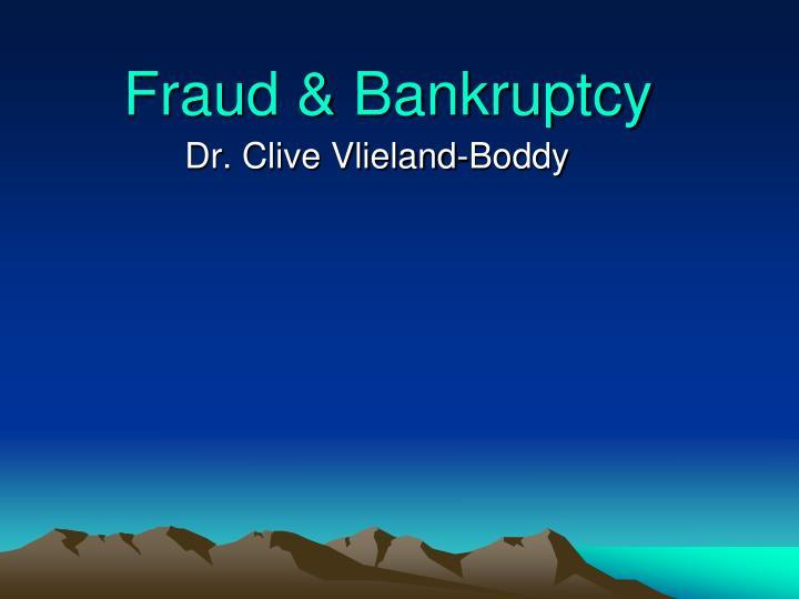 fraud bankruptcy n.