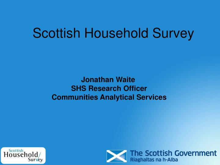 scottish household survey n.