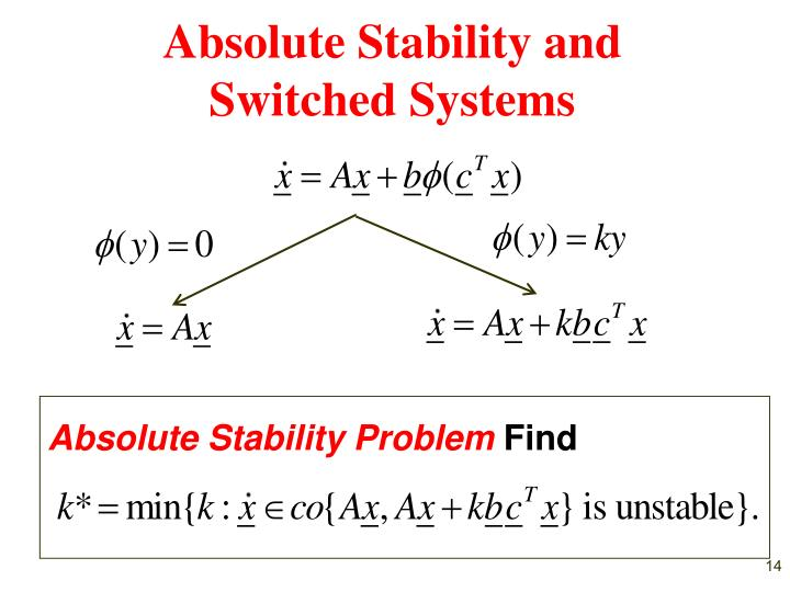 Absolute Stability and Switched Systems