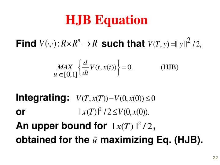 HJB Equation