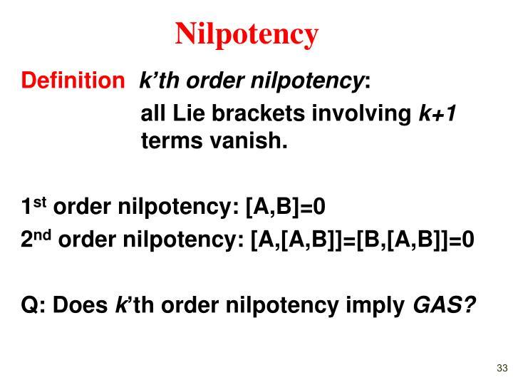 Nilpotency