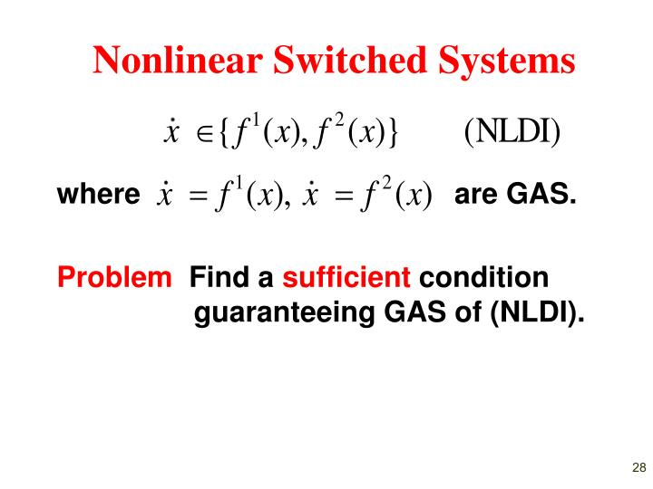 Nonlinear Switched Systems