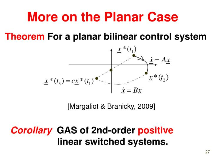 More on the Planar Case
