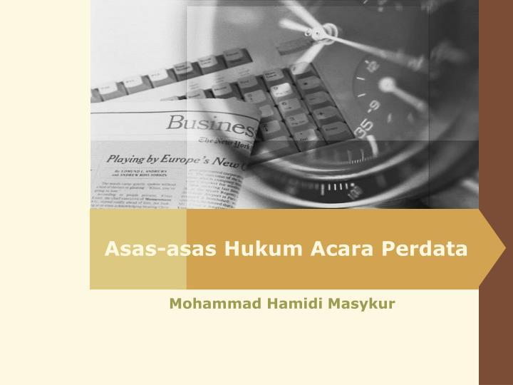 asas asas hukum acara perdata n.
