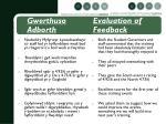 gwerthuso evaluation of adborth feedback