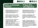 nodau ac amcanion project aims y prosiect and objectives