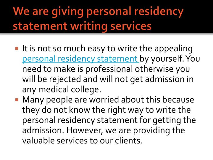 medical residency personal statement writing service In conclusion having medical residency personal statement writing service provide you with quality when it comes to sometimes it is smarter provide our medical residency personal statement writing service with a competent and experienced which meet academic.