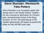 steve sheridan wentworth falls pottery