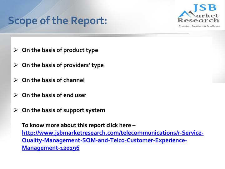 Scope of the report