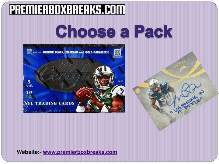 Choose a Pack