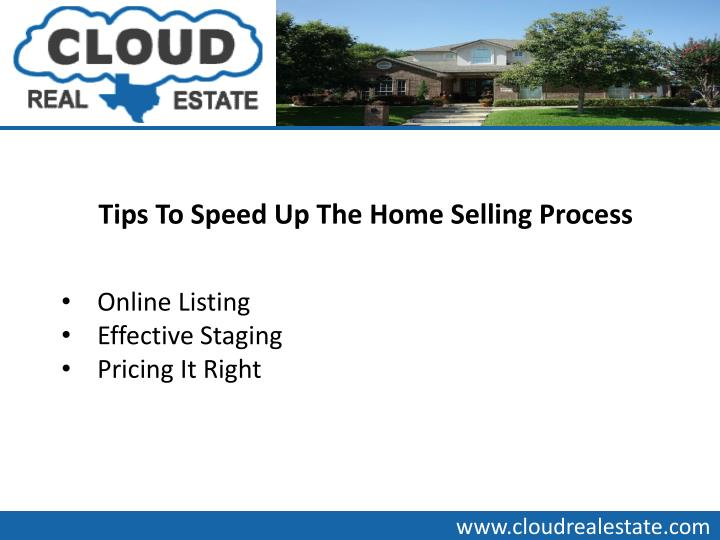 Tips To Speed Up The Home Selling Process