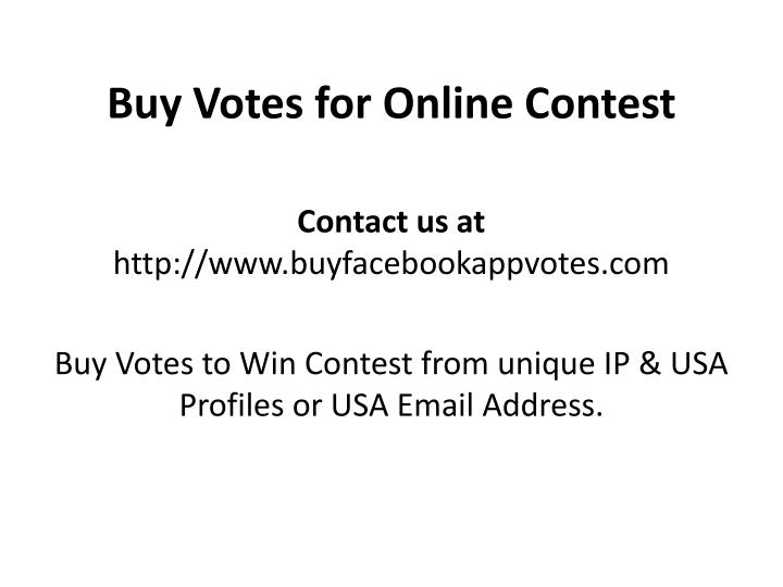 buy votes for online contest n.
