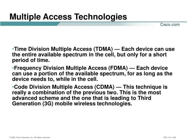 Multiple Access Technologies