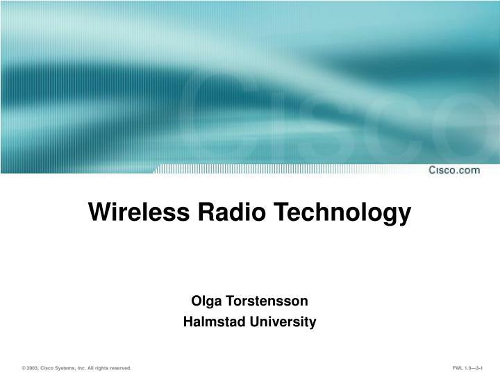 Wireless radio technology