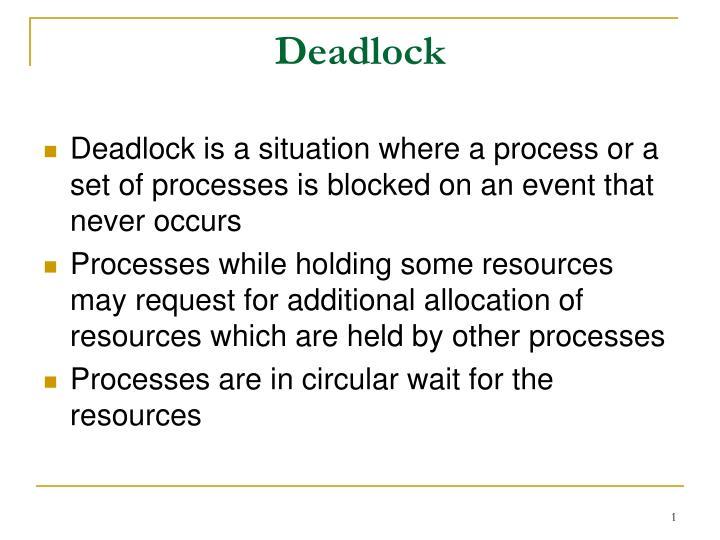 deadlock n.