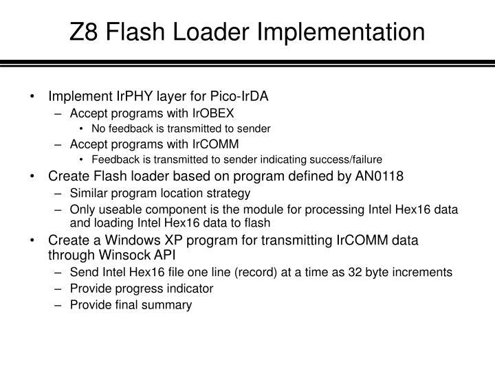 Z8 Flash Loader Implementation