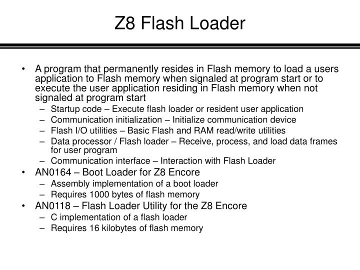 Z8 Flash Loader
