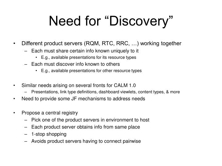 need for discovery n.