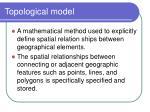 topological model