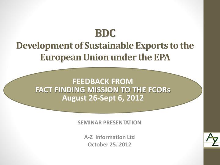seminar presentation a z information ltd october 25 2012 n.