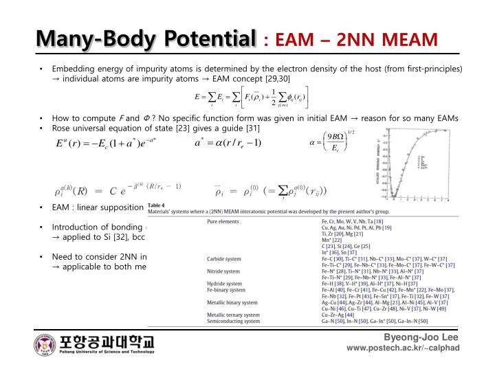 Many-Body Potential