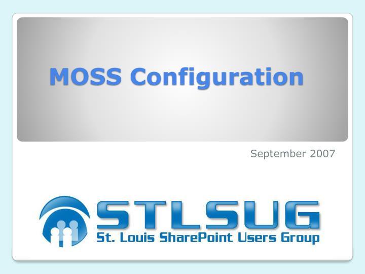 moss configuration n.
