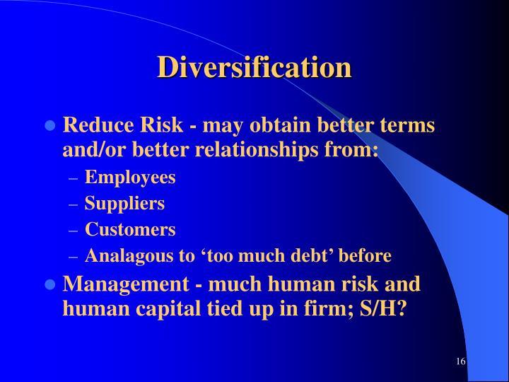 Diversification