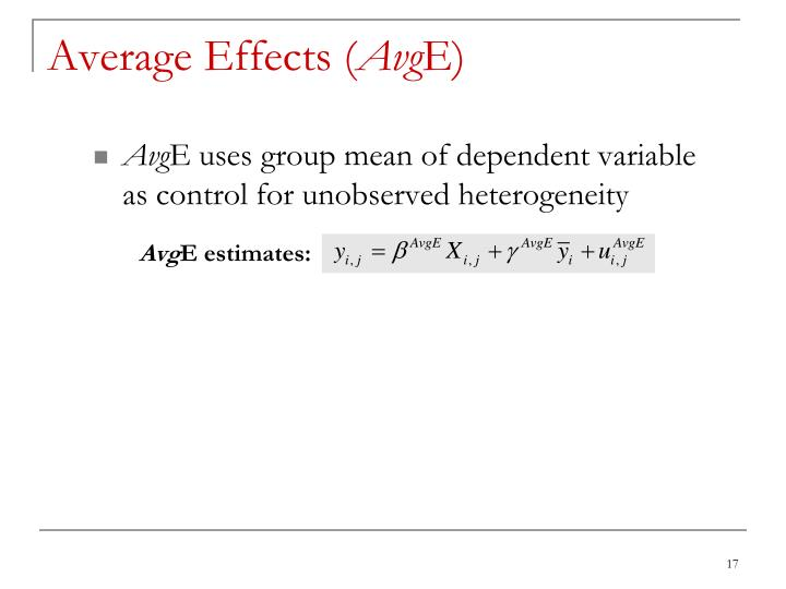 Average Effects (