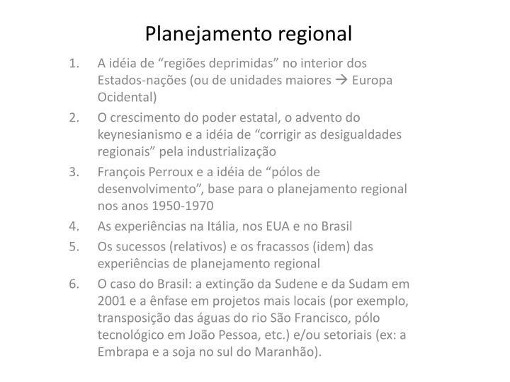 planejamento regional n.