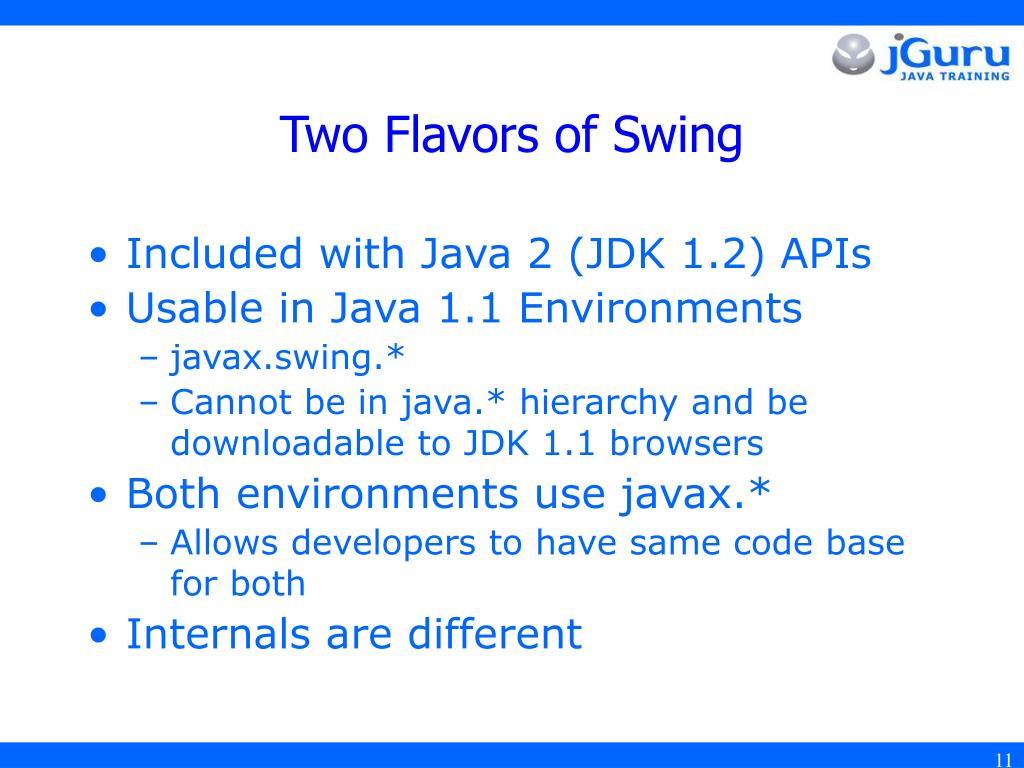 PPT - Introduction to JFC/Swing PowerPoint Presentation - ID:3315531
