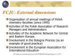 fcju external dimensions