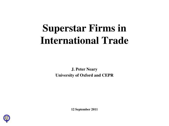 superstar firms in international trade n.
