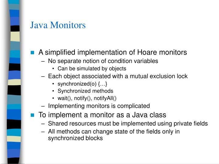 Java Monitors