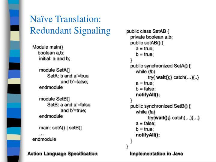 Naïve Translation: